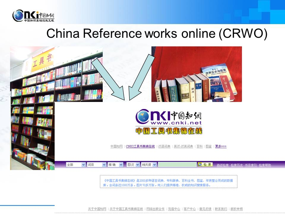 China Reference works online (CRWO)