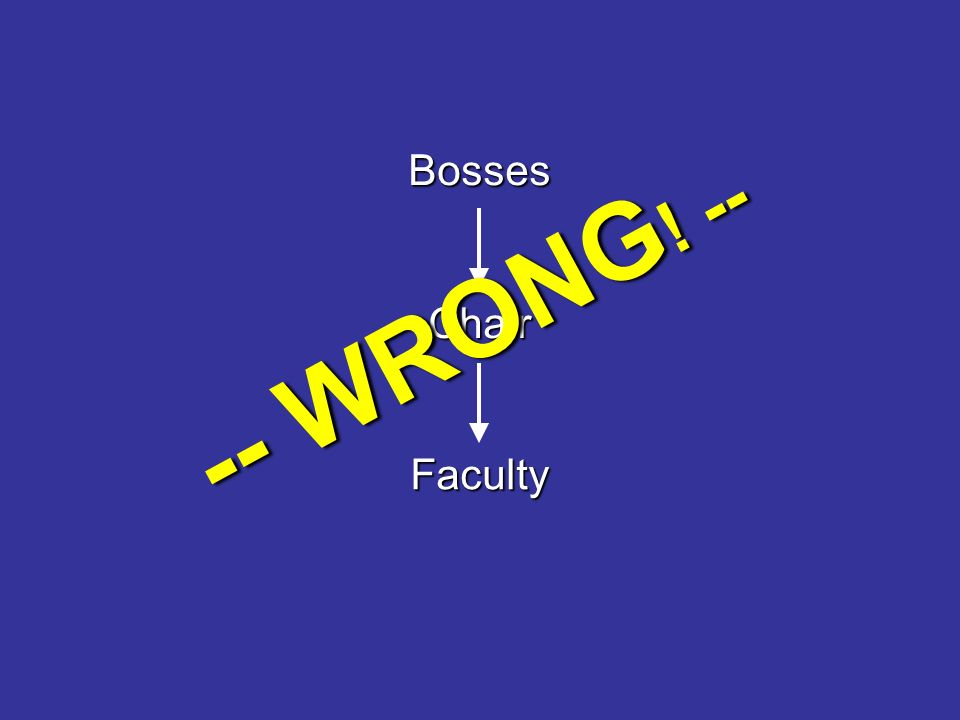 Bosses Chair Faculty -- WRONG ! --