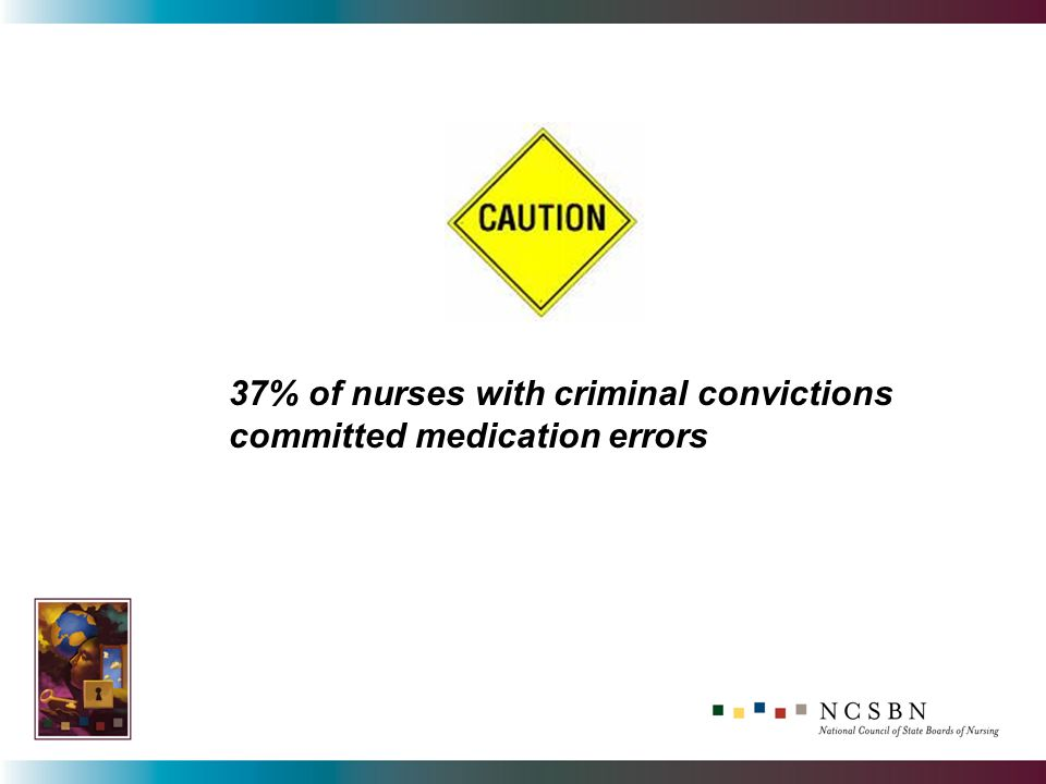 37% of nurses with criminal convictions committed medication errors