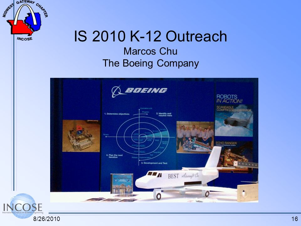 IS 2010 K-12 Outreach Marcos Chu The Boeing Company 168/26/2010