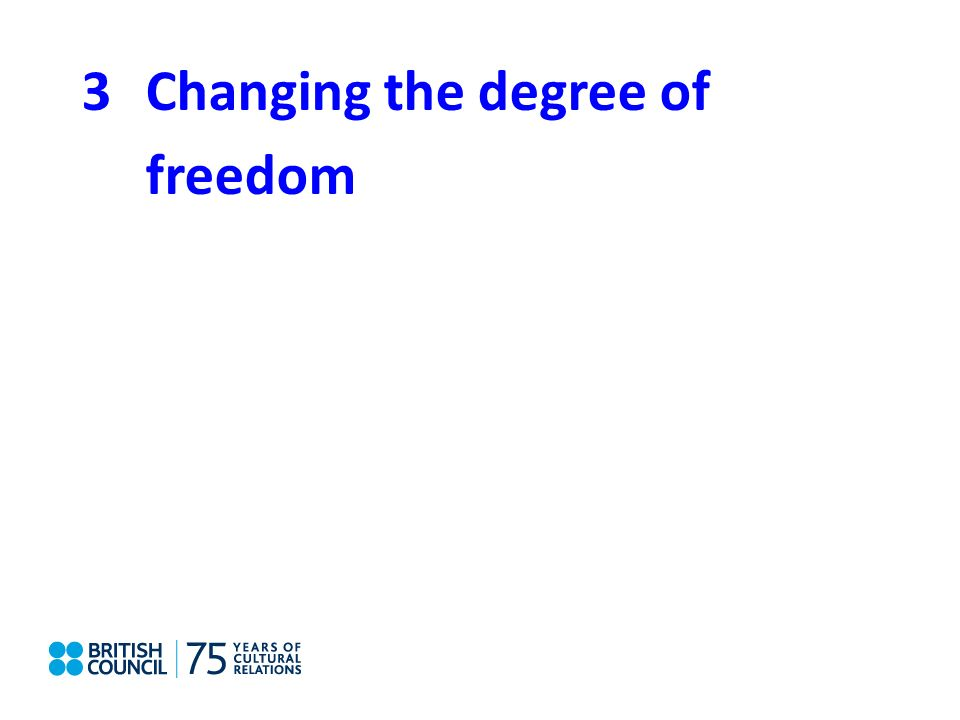 3Changing the degree of freedom