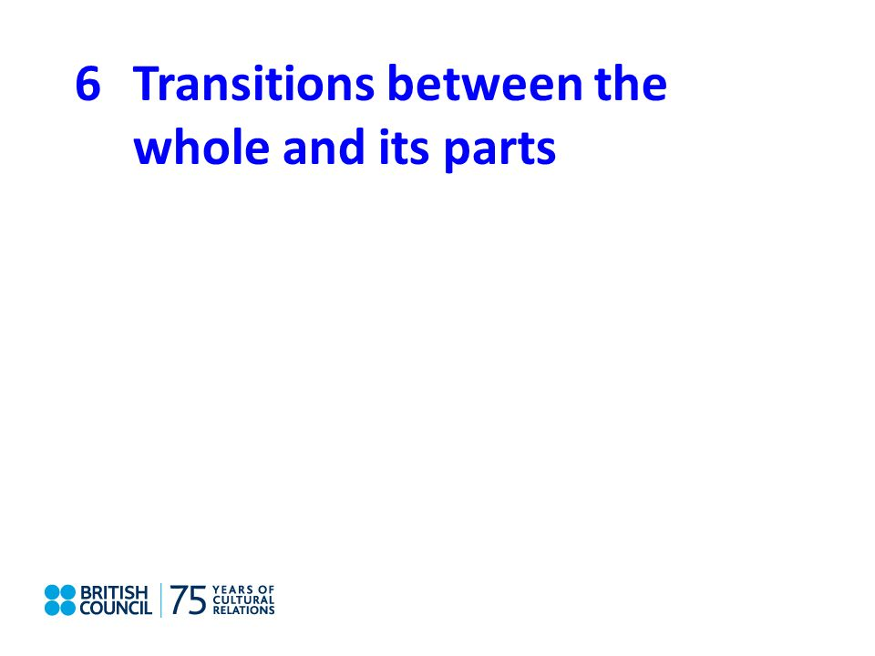 6Transitions between the whole and its parts