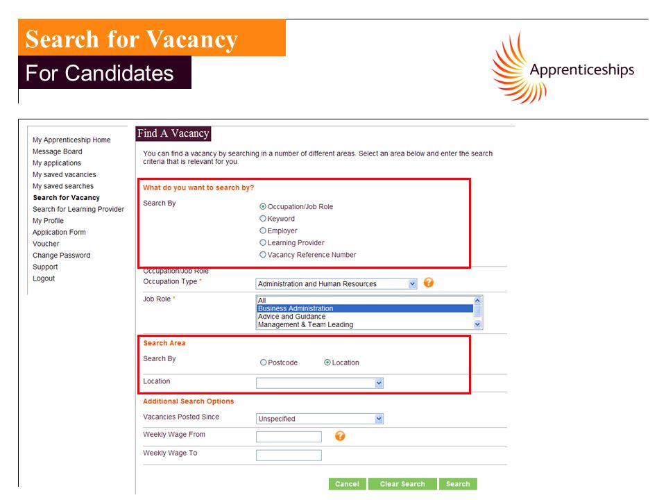 12 Search for Vacancy For Candidates