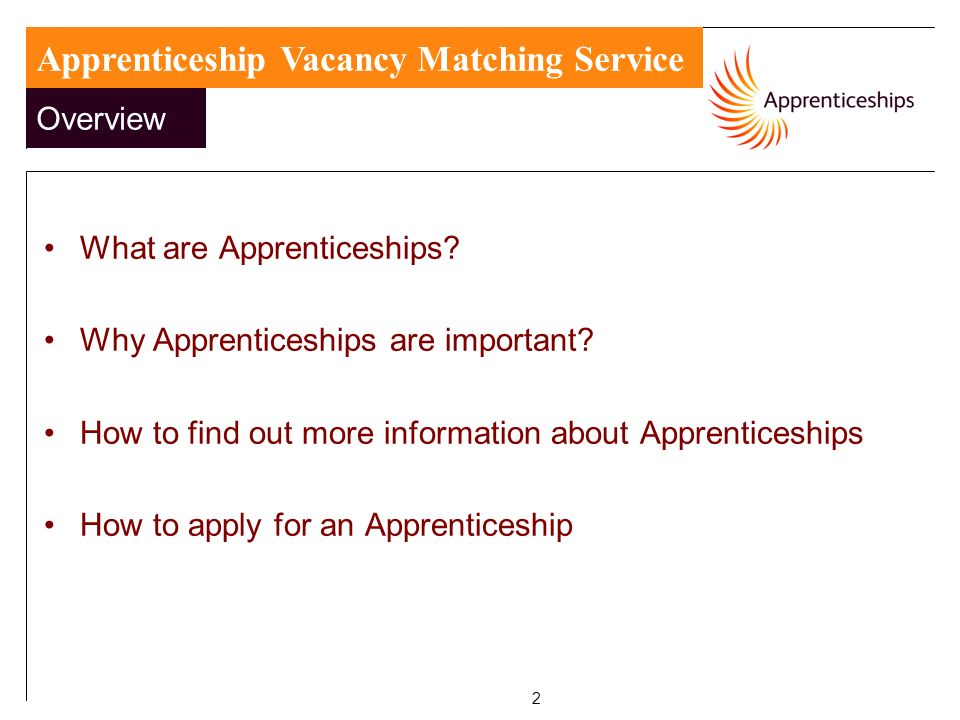 2 What are Apprenticeships. Why Apprenticeships are important.