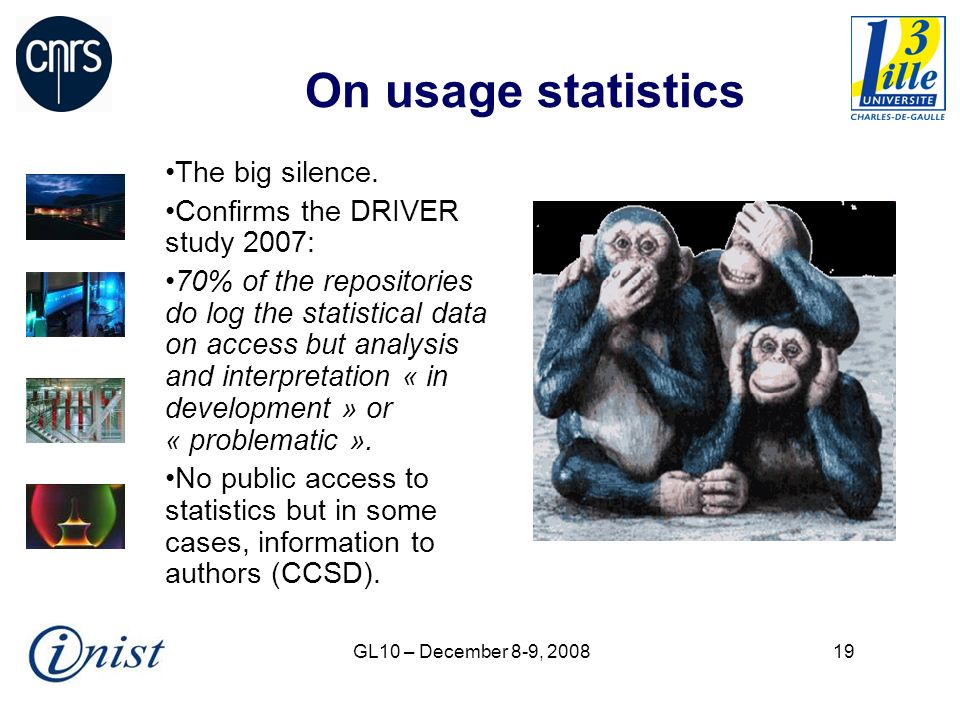 GL10 – December 8-9, 200819 On usage statistics The big silence.