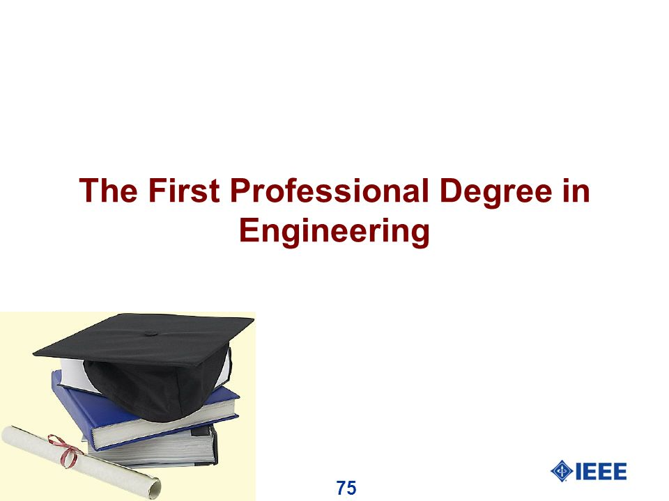 75 The First Professional Degree in Engineering