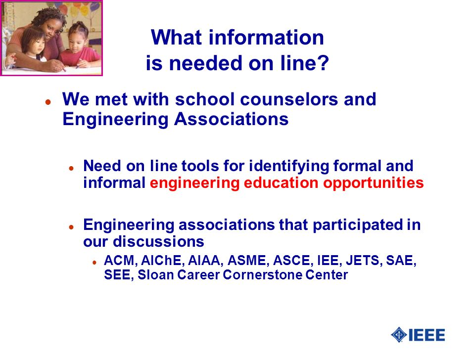 What information is needed on line.