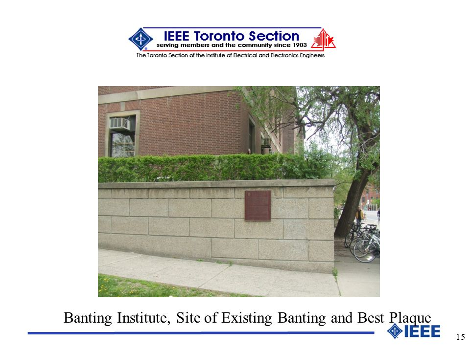 15 Banting Institute, Site of Existing Banting and Best Plaque