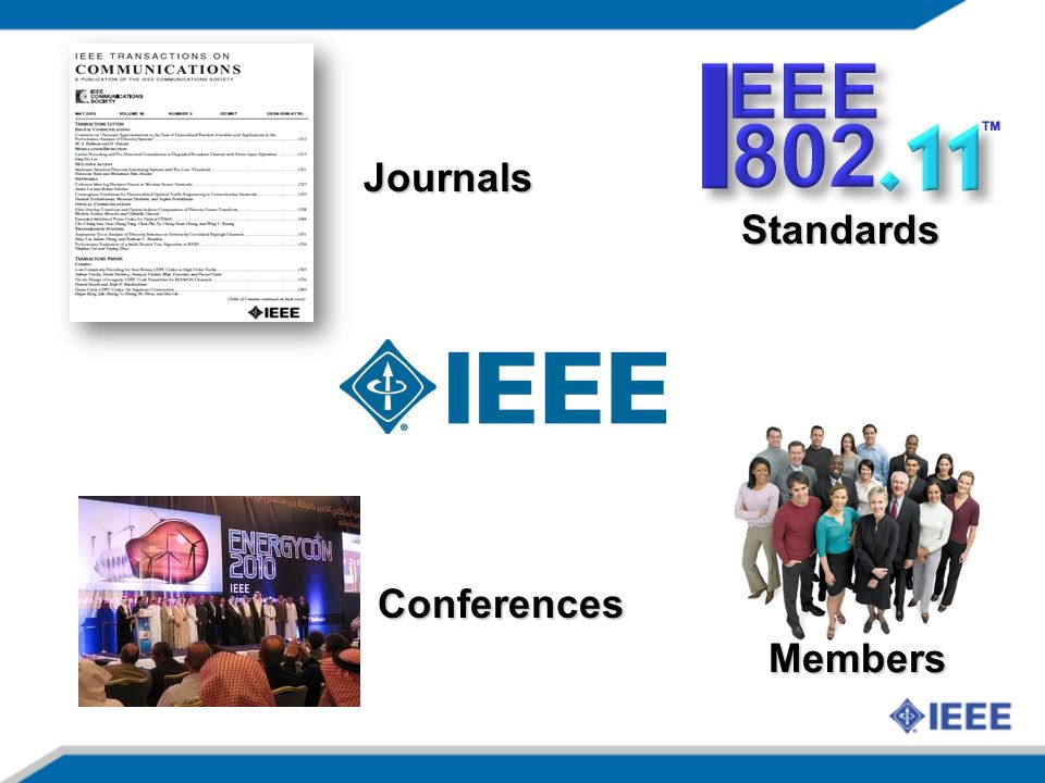 Standards Members Journals Conferences