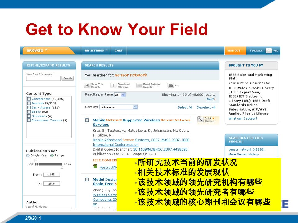 Get to Know Your Field 2/8/2014 21