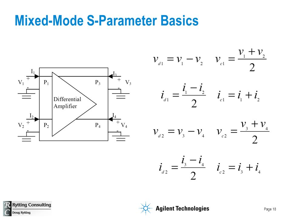 Page 18 Mixed-Mode S-Parameter Basics