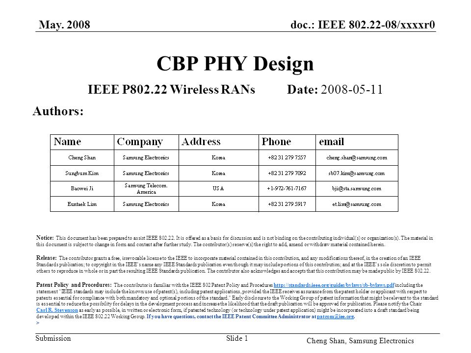doc.: IEEE 802.22-08/xxxxr0 Submission May.
