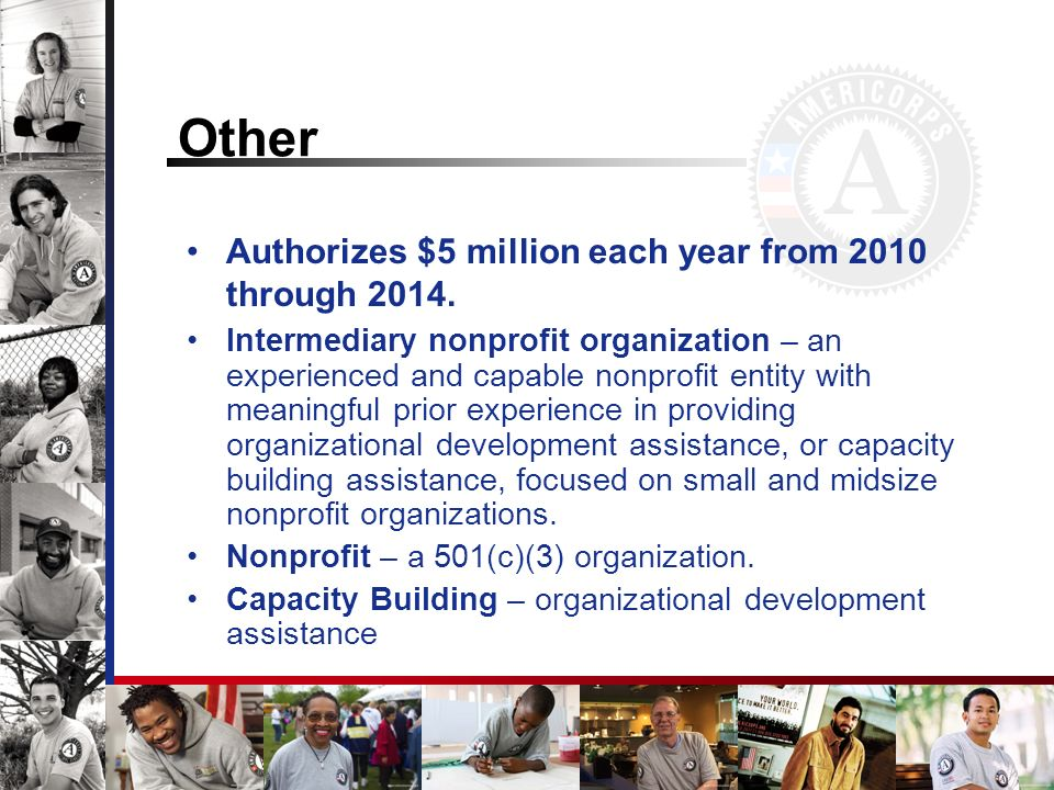 Other Authorizes $5 million each year from 2010 through 2014.