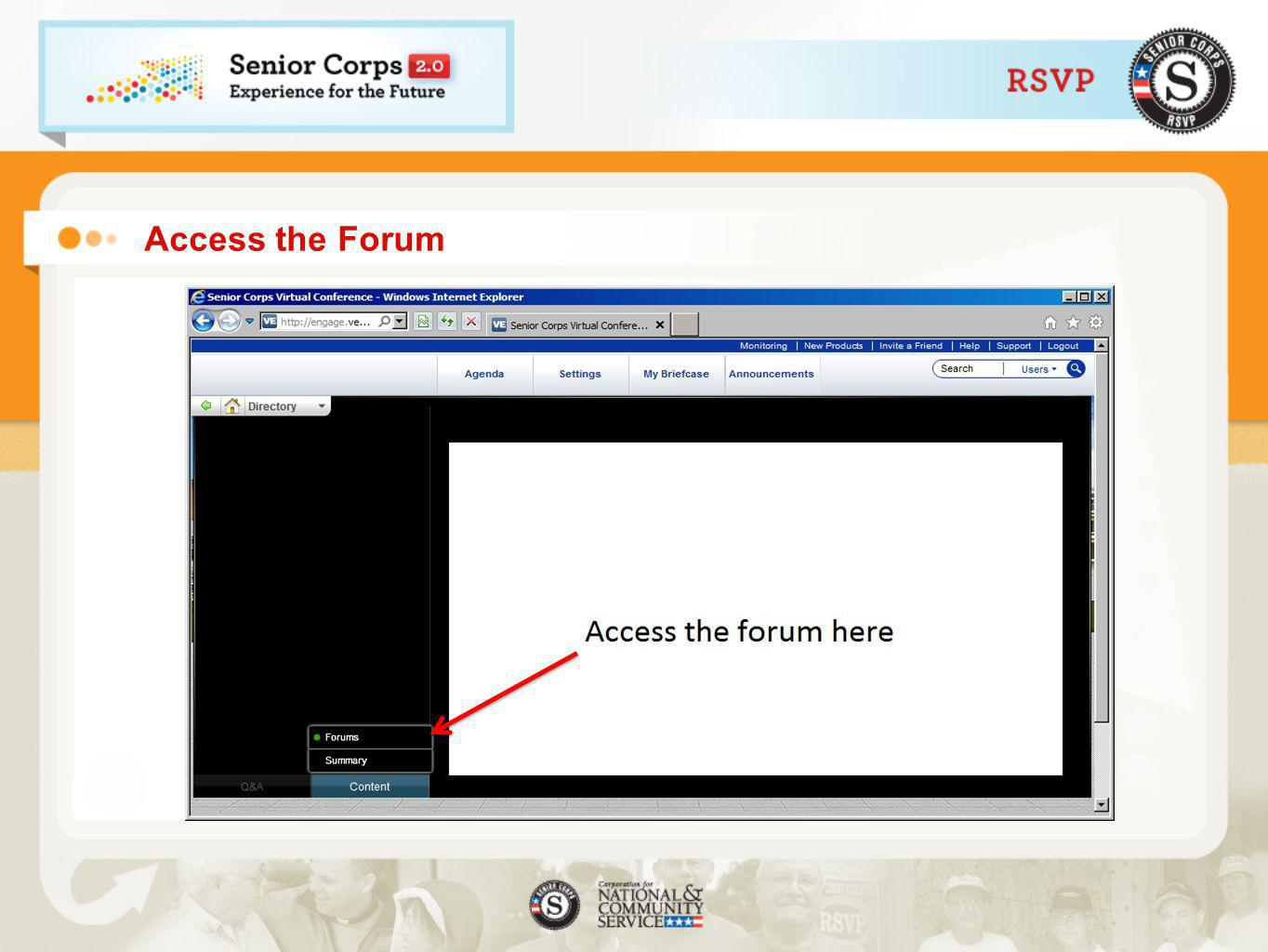Access the Forum