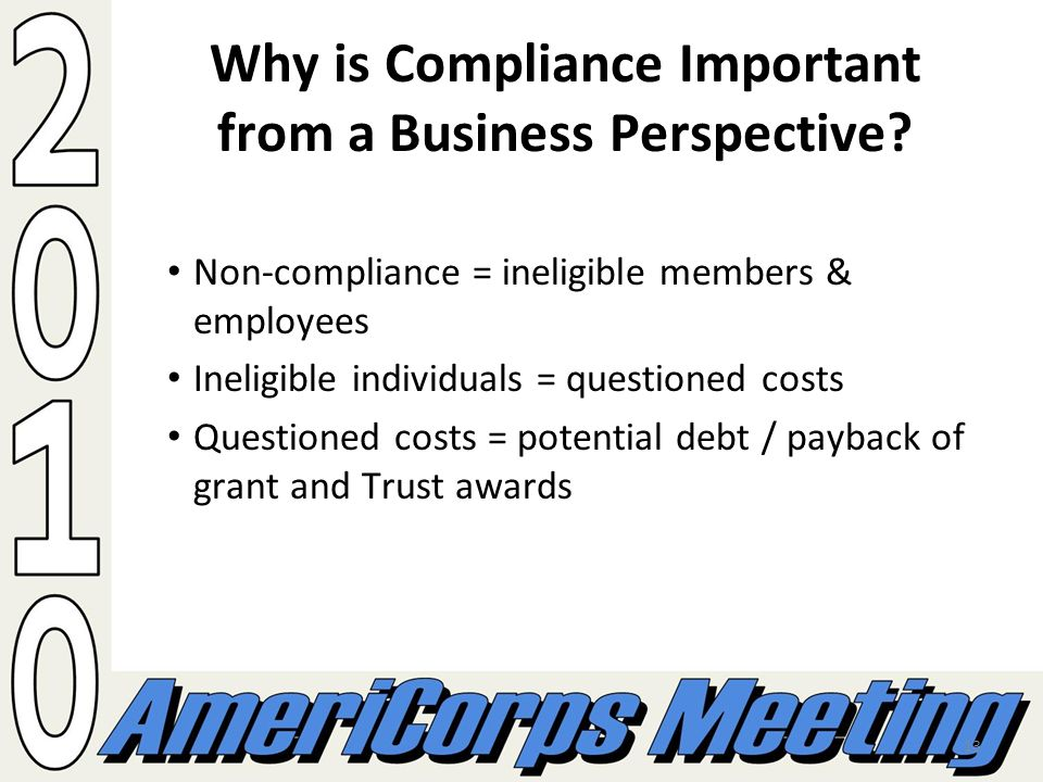 13 Why is Compliance Important from a Business Perspective.