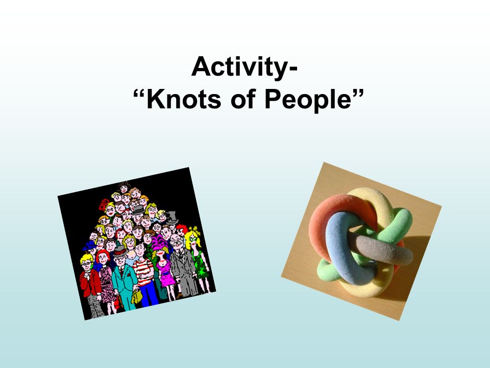 Activity- Knots of People