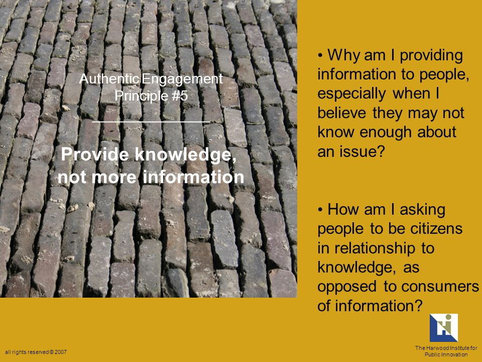 Why am I providing information to people, especially when I believe they may not know enough about an issue.
