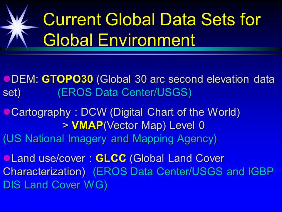Definition of Global Map (by ISCGM) Definition of Global Map (by ...