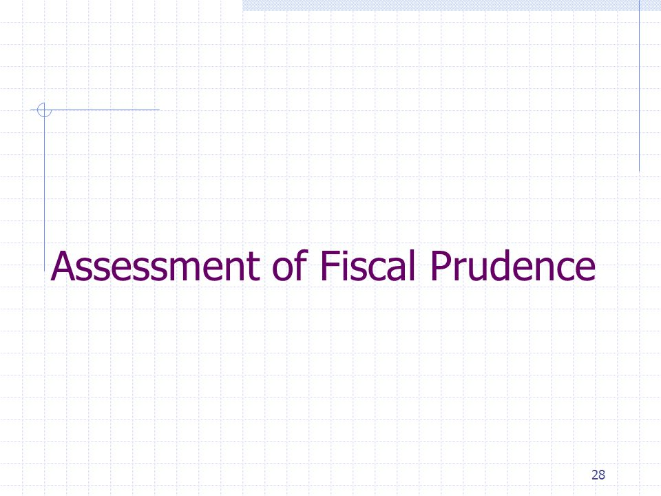 28 Assessment of Fiscal Prudence