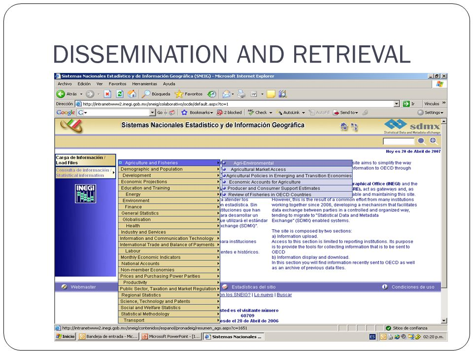DISSEMINATION AND RETRIEVAL
