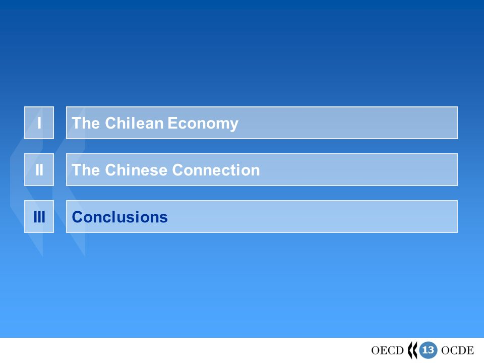 13 The Chilean EconomyI The Chinese ConnectionII ConclusionsIII