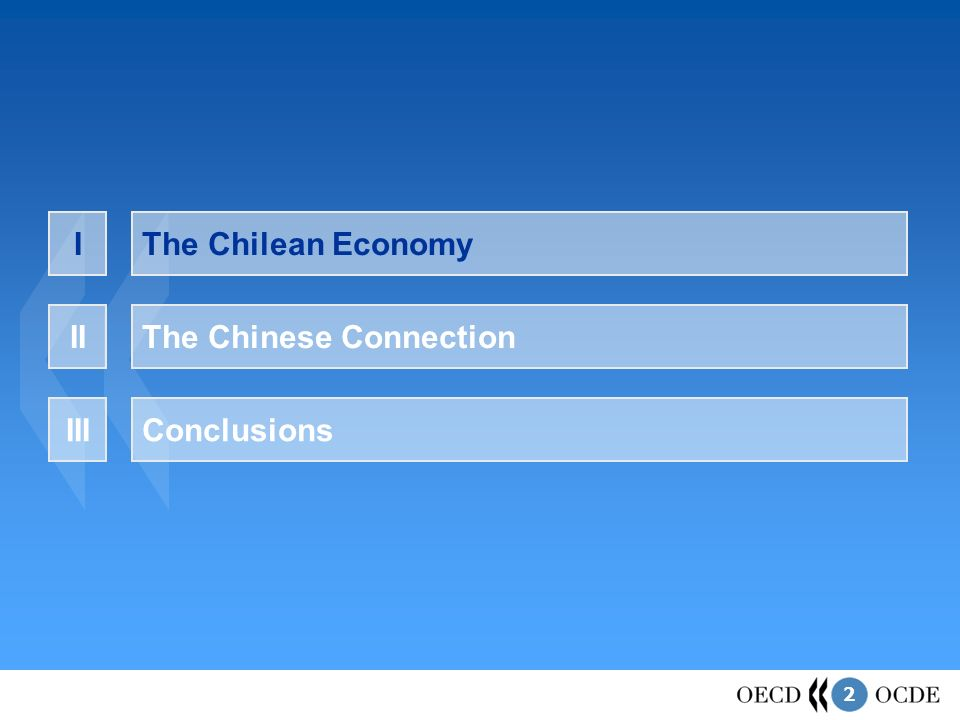 2 The Chilean EconomyI The Chinese ConnectionII ConclusionsIII