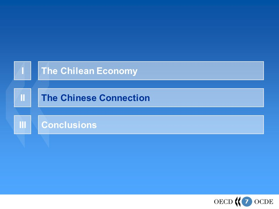 7 The Chilean EconomyI The Chinese ConnectionII ConclusionsIII