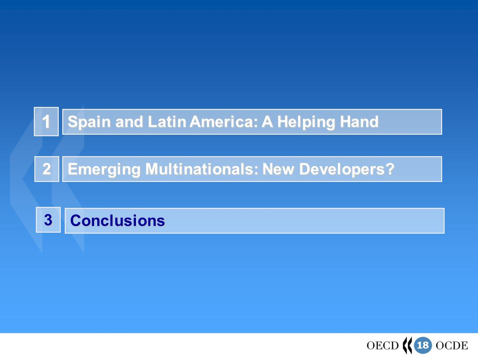 18 1 Spain and Latin America: A Helping Hand Emerging Multinationals: New Developers.