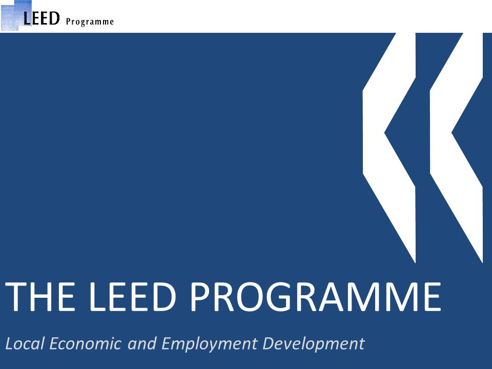 THE LEED PROGRAMME Local Economic and Employment Development