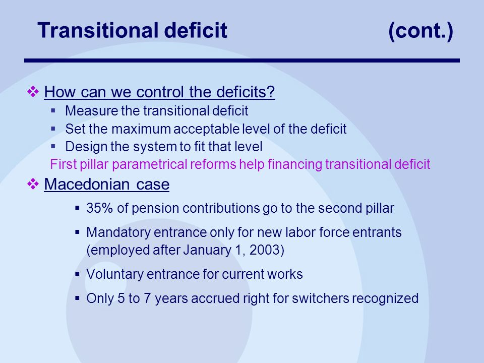 How can we control the deficits.