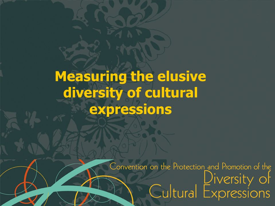 Measuring the elusive diversity of cultural expressions