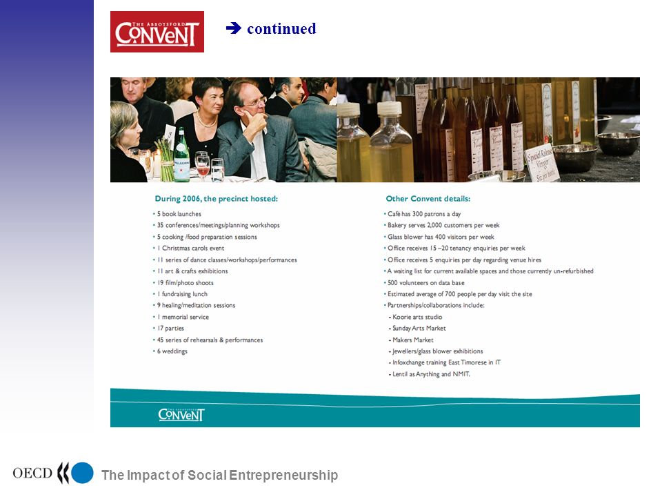 The Impact of Social Entrepreneurship continued