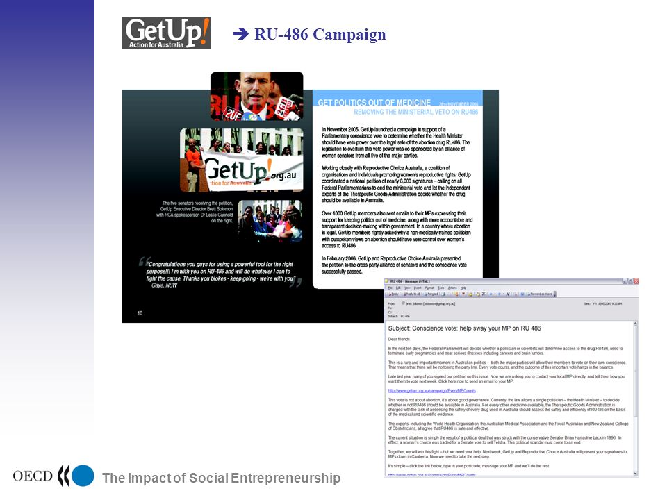 The Impact of Social Entrepreneurship RU-486 Campaign