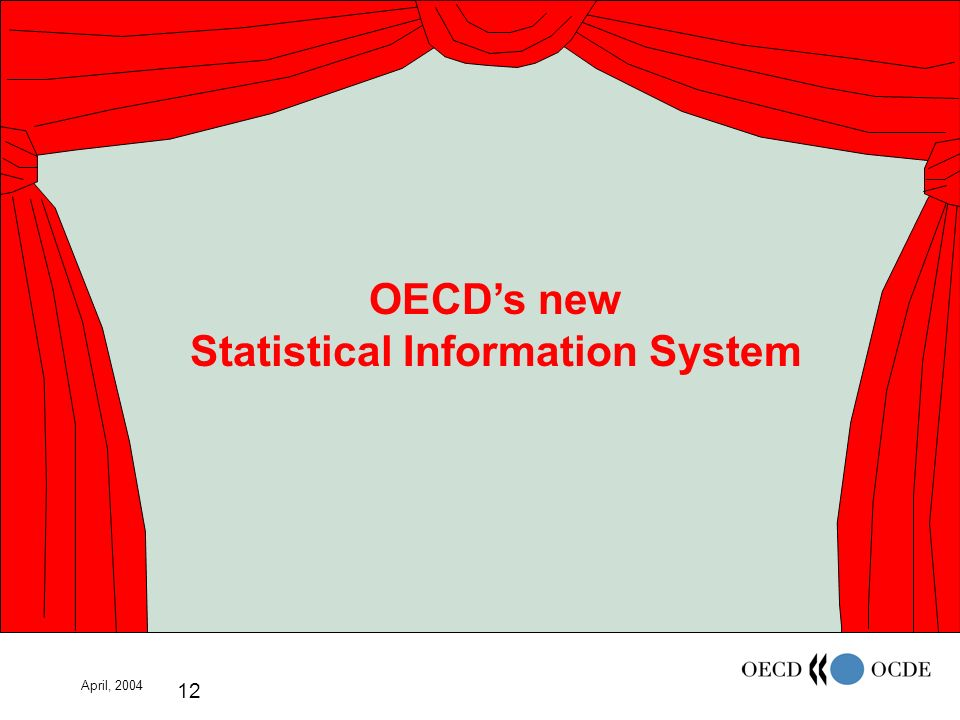April, 2004 12 OECDs new Statistical Information System