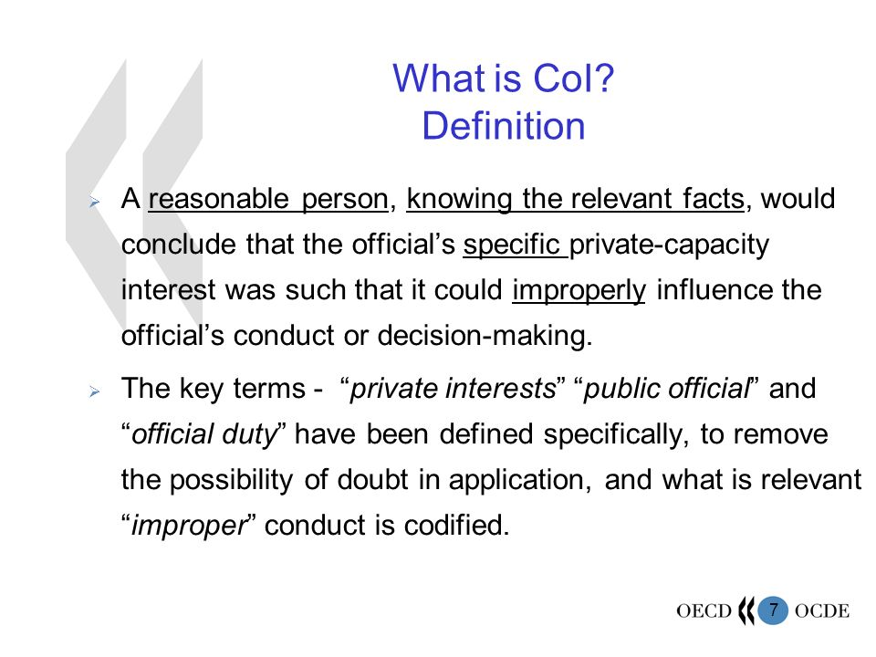 7 What is CoI.
