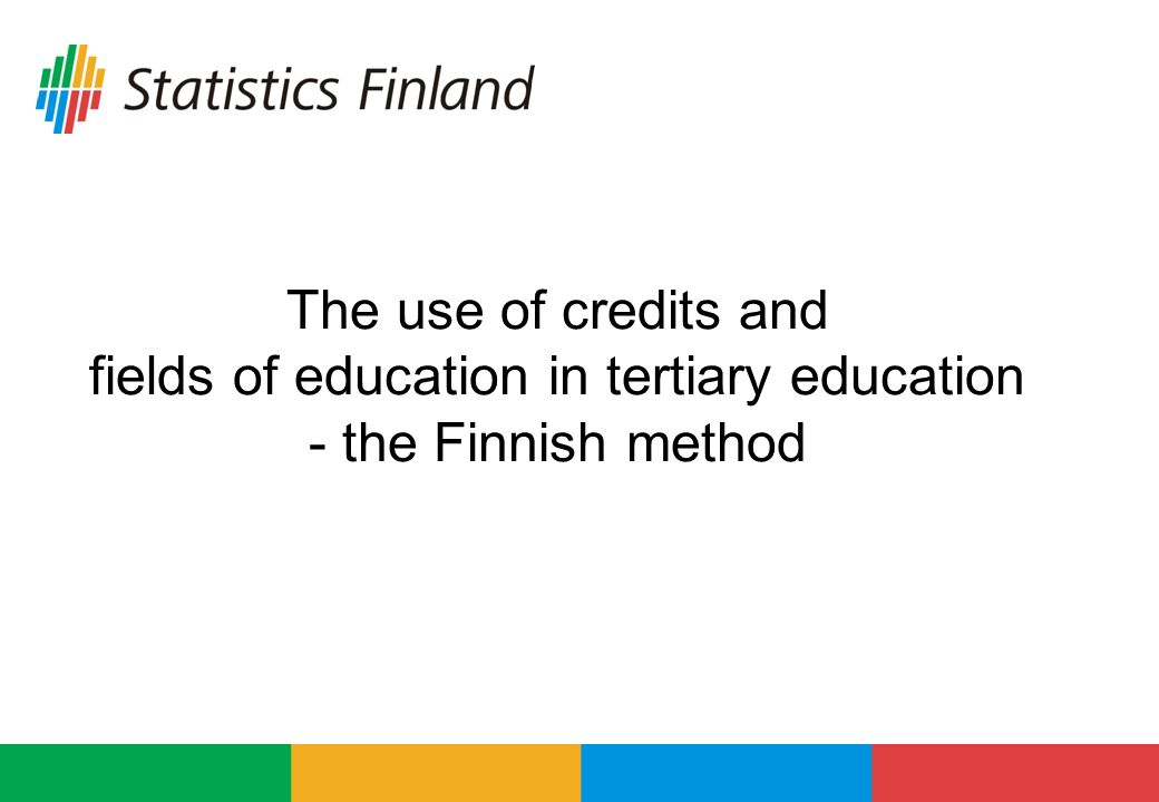 The use of credits and fields of education in tertiary education - the Finnish method