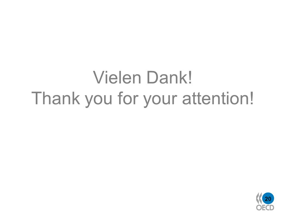 20 Vielen Dank! Thank you for your attention!