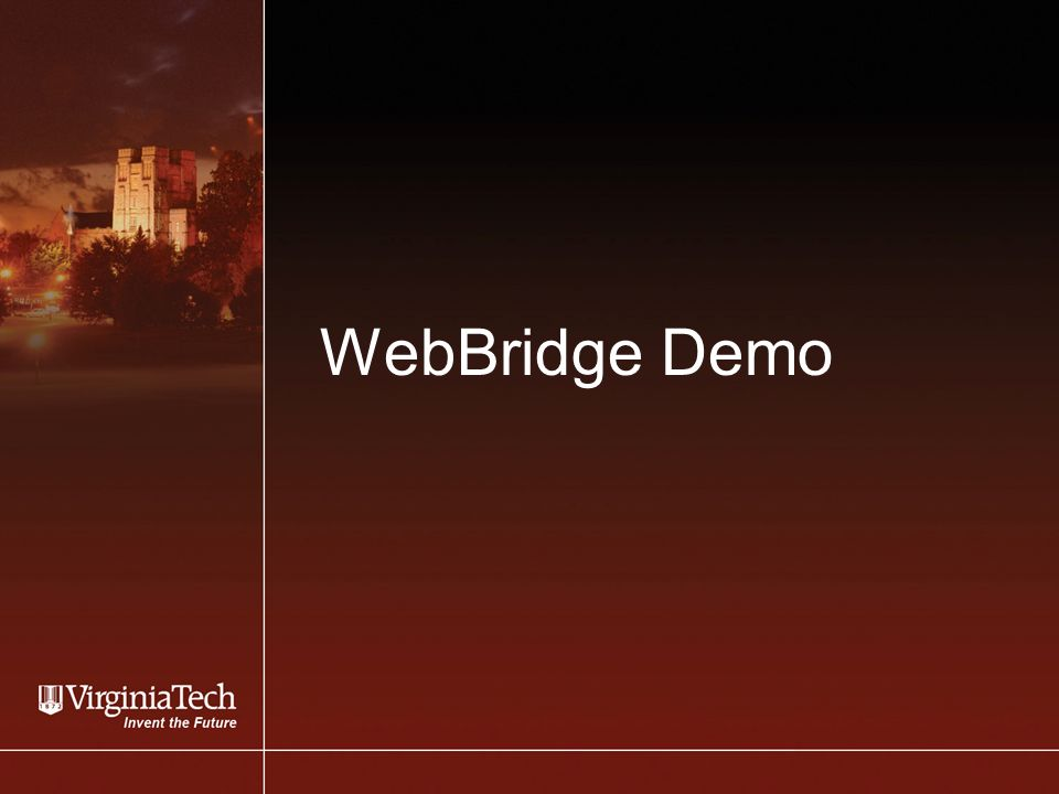 WebBridge Demo