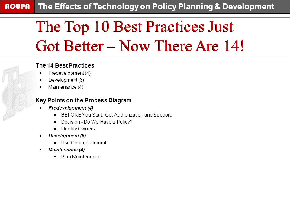 The Top 10 Best Practices Just Got Better – Now There Are 14.