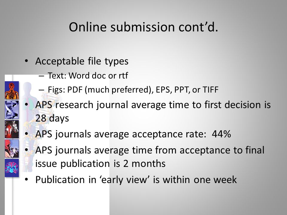 Online submission contd.