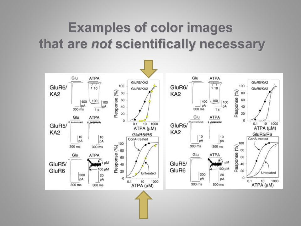 Examples of color images that are not scientifically necessary that are not scientifically necessary