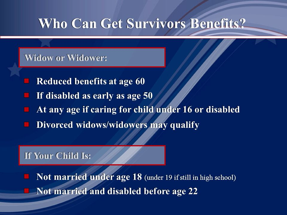 Who Can Get Survivors Benefits.