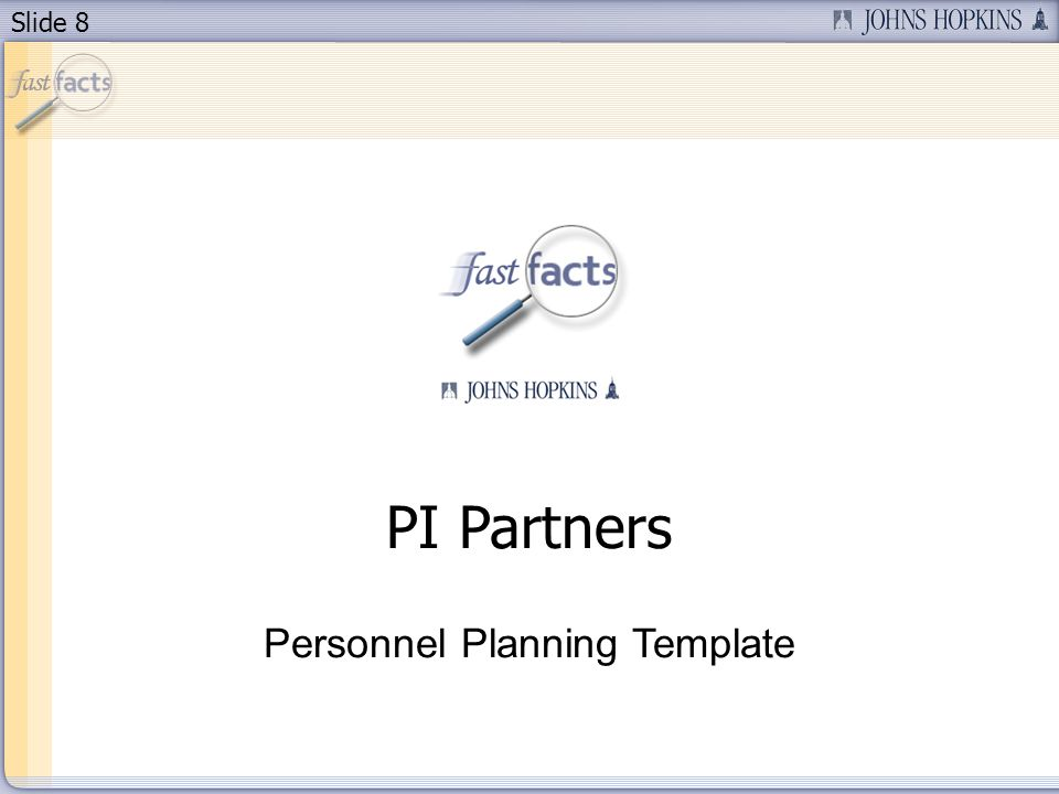 Slide 8 PI Partners Personnel Planning Template