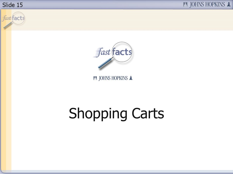 Slide 15 Shopping Carts