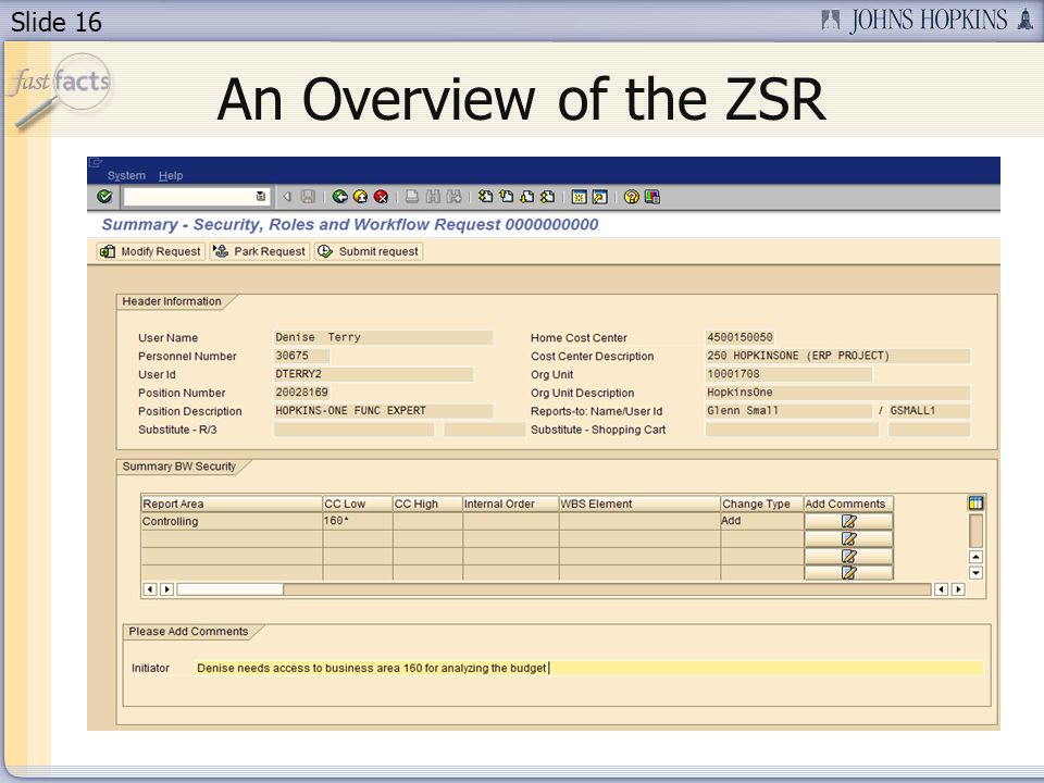Slide 16 An Overview of the ZSR