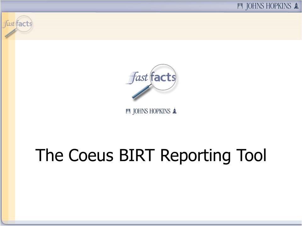 The Coeus BIRT Reporting Tool