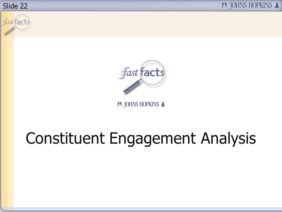 Slide 22 Constituent Engagement Analysis