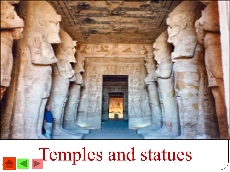 Temples and statues