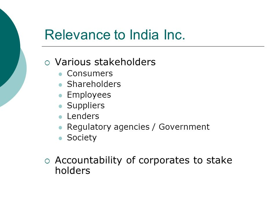 Relevance to India Inc.