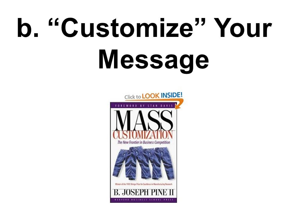 b. Customize Your Message